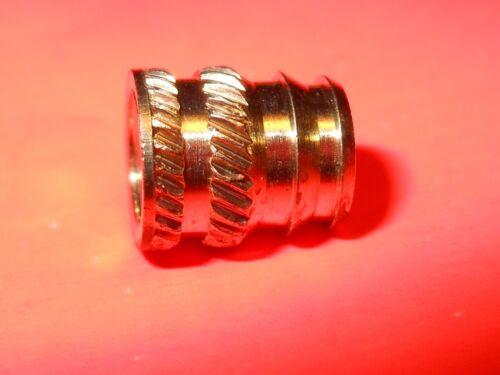 Qty 100 M3.5mm x 6mm Dodge Brass Insert #6075-3.5BR064 for Plastics