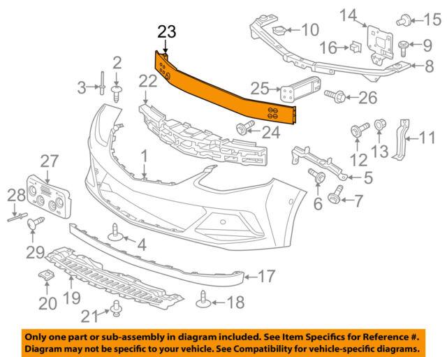 Genuine GM Lower Impact Bar 95025199
