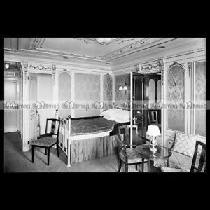 #php.00079 Photo RMS TITANIC- WHITE STAR LINE First class suite bedroom PAQUEBOT wbCwz9Er-09091826-712902588