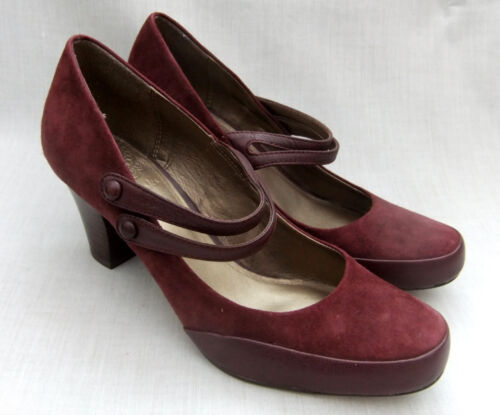 Alpine Clarks Suede Gold Shoes Burgundy Novedades Womens 6Ppw5Zxnx