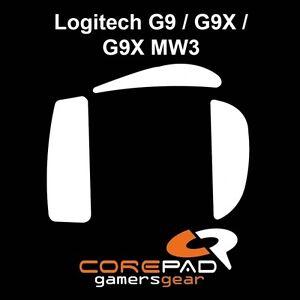 Corepad-Skatez-Logitech-G9-G9X-MW3-Ersatz-Teflon-Mausfuesse-Maus-Fuesse-Gleiter