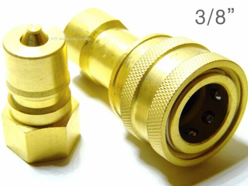 """Carpet Cleaning 3//8/"""" Brass Quick Disconnect application hoses wands"""