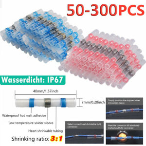 Waterproof Heat Shrink Tube Butt Terminals Solder Seal Sleeve Wire Connectors