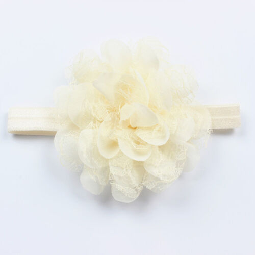 Cute Baby Toddler Infant Lace Flower Hair Bow Headband Headwear Accessoy