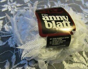 NEW-FILS-ANNY-BLATT-CARACAS-White-Cotton-Polyester-Nylon-Yarn-25-g-France