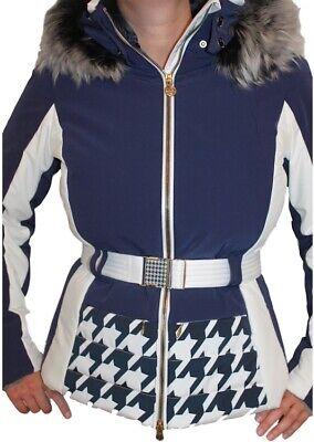 Sportalm Kitzbühel Damen Winter Ski Jacke Acuto mit Echtfell Blau Weiß Neu | eBay