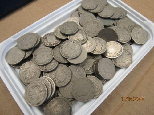 20430-nickels-os Lot of 40 V Nickel