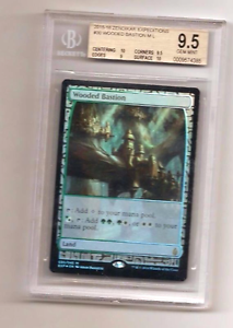 2015-16 ZENDIKAR EXPEDITIONS WOODED BASTION (FOIL)GRADED BGS 9.5 GEM MINT