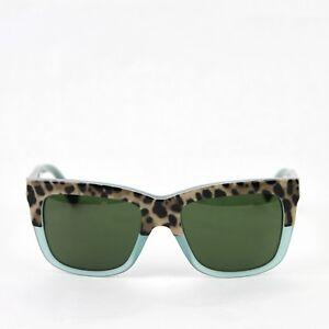 f6f7a2de457 Dolce   Gabbana Square Leopard Print Opal Green Frame Sunglasses ...
