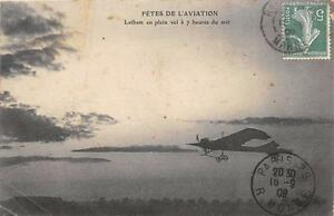 CPA-AVIATION-FETES-DE-L-039-AVIATION-LATHAM-EN-PLEIN-VOL-A-7heures-DU-SOIR