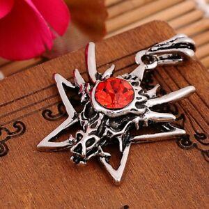 Dragon Star - Punk/Goth/Rock leather pendant necklace