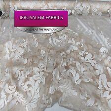 Wonderful Italian Design bridal wedding lace ivory. Sold by the yard.