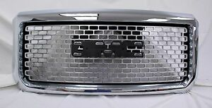 2016 Gmc Denali 2500 >> 2015-2016 GMC Sierra HD GM OEM Chrome HD Denali Grille NEW 23155056 | eBay
