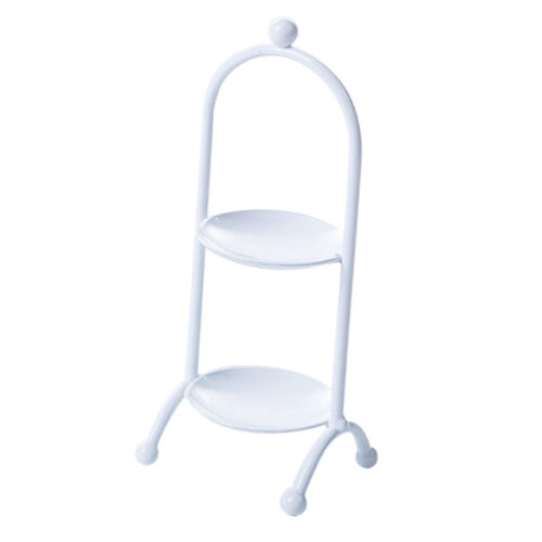 2 LAYER TIER ROUND SERVING DISPLAY CAKES PLATTER DESSERT STAND RACK White