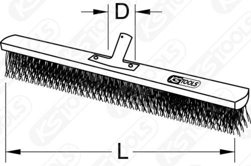 KS TOOLS Werkstattbesen mit Kunststoffborsten 290mm 146.2080