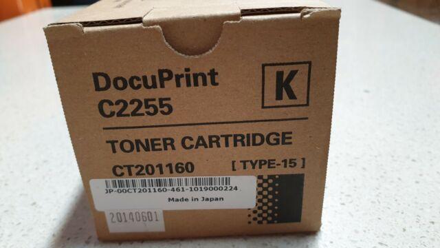 Genuine Xerox DocuPrint C2255 Black Toner Cartridge CT201160 Brand New See Pic