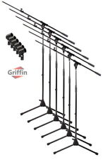Microphone Stand 6 PACK - Griffin Telescoping Boom Arm Mic Studio Stage Tripod