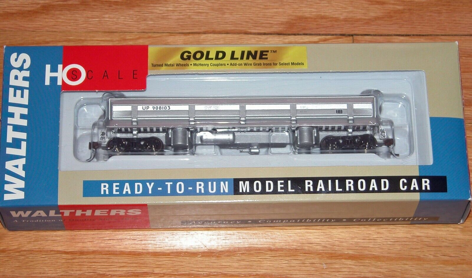 WALTHERS 932-7901 gold DIFCO DUMP CAR UNION PACIFIC UP 908103 W LOAD INSTALLED