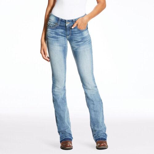 10023495 Ariat REAL Ladies Stella Boot Cut Low Rise Jean Antarctica  NEW
