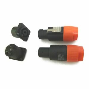 10pcs-Speakon-4-Pin-Maschio-10-Pz-Femmina-Connettori-Cavo-Audio-Compati-U9I8
