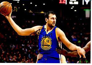 ANDREW BOGUT HAND SIGNED ACTION PHOTOGRAPH UNFRAMED + PHOTO PROOF C.O.A