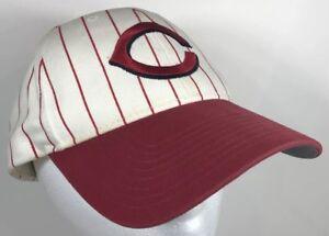 best loved 2e53c 2af59 ... reduced image is loading cincinnati reds strapback baseball hat mlb red  white cb862 d6fb5