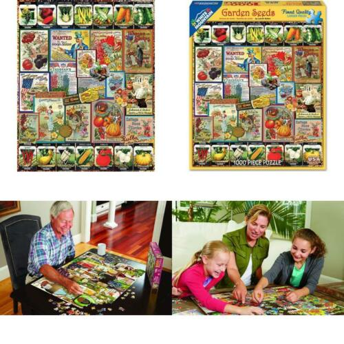 White Mountain Puzzles Garden Seeds 1000 Piece Jigsaw Puzzle