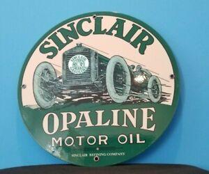 VINTAGE-SINCLAIR-OPALINE-GAS-OIL-AUTOMOBILE-PORCELAIN-SERVICE-STATION-SIGN