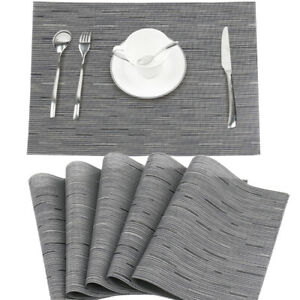Kitchen PVC Placemats Washable Heat Insulation Dining Table Placement Mats Pad