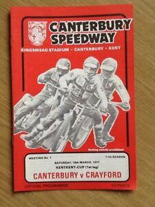Canterbury V Crayford Speedway Programme 180377 - Aylesbury Bucks, Buckinghamshire, United Kingdom - Canterbury V Crayford Speedway Programme 180377 - Aylesbury Bucks, Buckinghamshire, United Kingdom