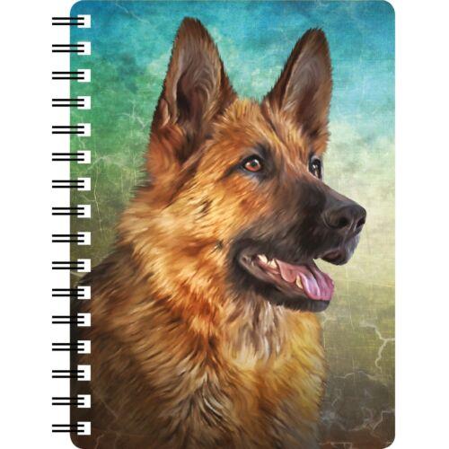 Long Haired German Shepherd 3D Notebook,