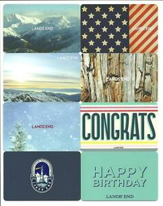 Lot-of-8-Different-Lands-039-End-Gift-Cards-No-Value-Collectible