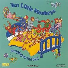 TEN LITTLE MONKEYS JUMPING ON THE BED [97808595389 - AUDREY WOOD (PAPERBACK) NEW
