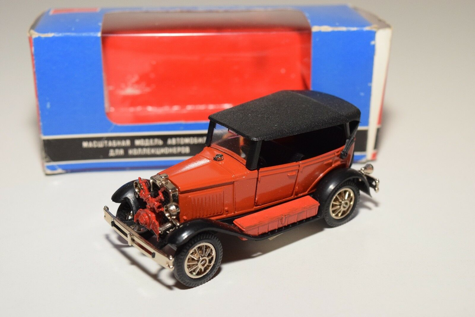 Russian Car CCCP NOVOEXPORT USSR gaz a a3-3 Oldtimer rosso MINT BOXED RARE RARO