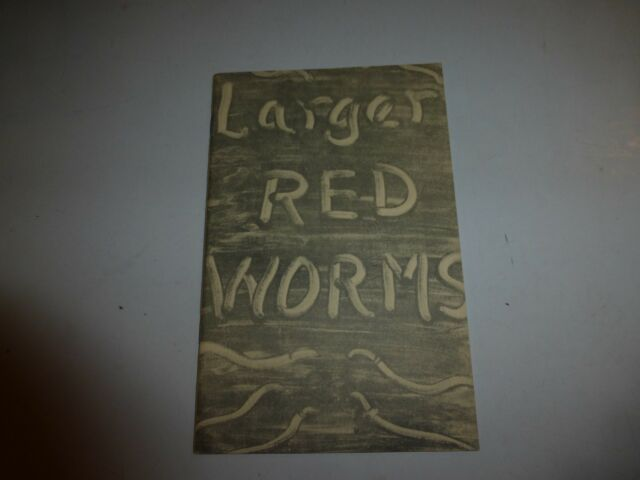 PRODUCTION AND SALE OF LARGER RED WORMS By George Holwager PB 1952 B210