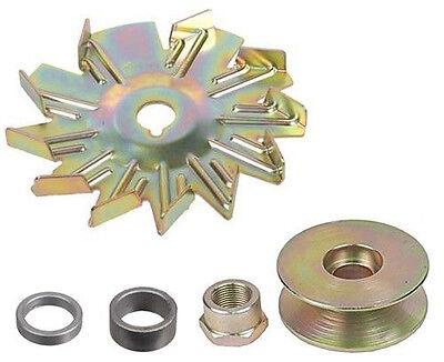 """3//4/"""" Fan /& Spacer 10DN 10SI 12SI Tractor Alternator Kit WIDE BELT PULLEY 5//8/"""""""