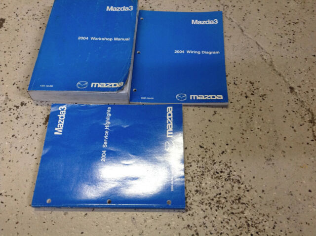 2004 Mazda 3 Mazda3 Service Repair Shop Workshop Manual Set W Ewd   Highlights