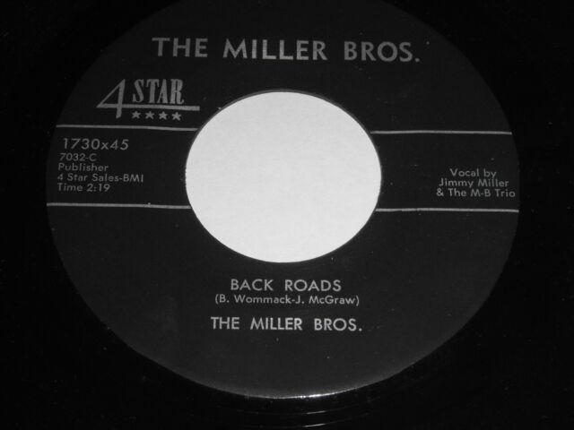The Miller Bros.: Back Roads / I Can't Get Started 45