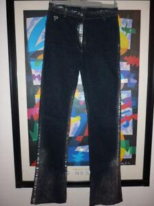 84cb9b9951 Caricamento dell'immagine in corso JEANS-KOCCA -screziato-DONNA-pantalone-elegante-moda-40-