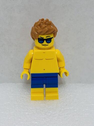 Lego Minifigure City Beachgoer Blue Trunks Sunglasses Cty0760