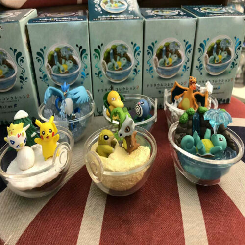 New in Box 6ps 5CM Transparent poke ball Action Figures PVC Toy Collect toys 02#
