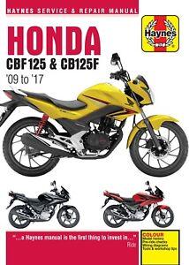 Haynes-Manual-5540-Honda-CBF125-amp-CB125F-09-17-workshop-service-amp-repair