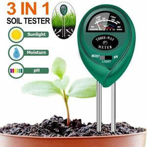 3 in 1 PH Tester Soil Water Moisture Light Test Meter for Garden Plant Flower