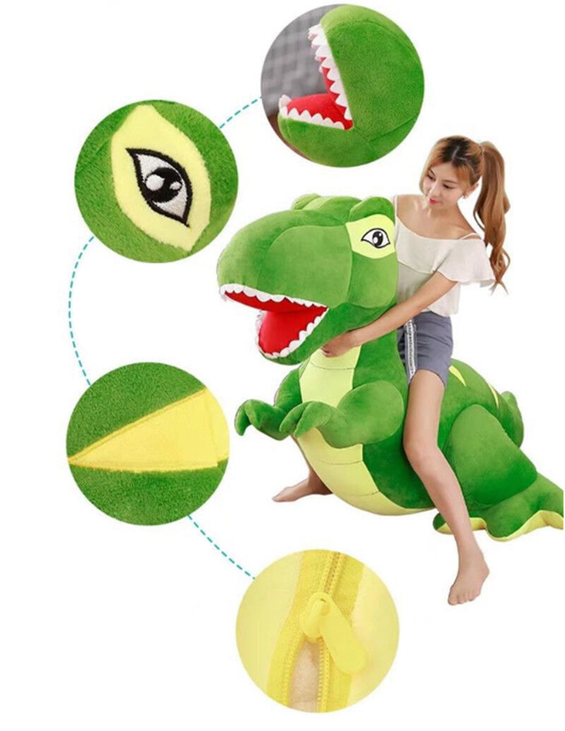 New New New 79'' Giant  Large Dinosaurs Rex Plush Toys Kids Soft Cuddly Stuffed  Animals a854eb