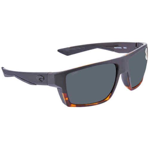 Costa Del Mar Bloke Gray 580P Rectangular Men/'s Sunglasses BLK 181 OGP