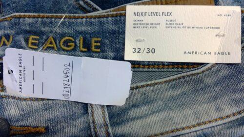 NWT AMERICAN EAGLE Next Level Flex Skinny Jean W 31-32-34 I 30-32-34 #265