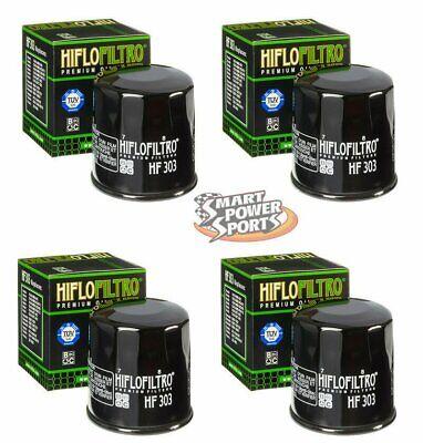 6 Genuine HiFlo HF303 Oil Filter Honda Polaris Yamaha Kawasaki *FREE PRIORITY*