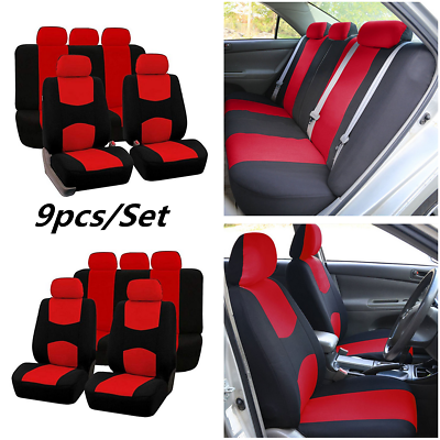 Universal Car Seat Covers 9 Set Full Seat Covers Fit For Interior Accessories