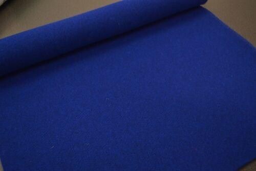Filz blau 50x100 königsblau Filz ca 3mm starker blauer Filz blau Wollfilz royal