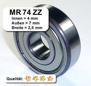10-Stk-Radiales-Rillen-Kugellager-MR74ZZ-4-x-7-x-2-5-mm
